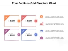 Four Sections Grid Structure Chart Ppt PowerPoint Presentation Infographic Template Guide
