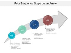 Four Sequence Steps On An Arrow Ppt PowerPoint Presentation Portfolio Icons