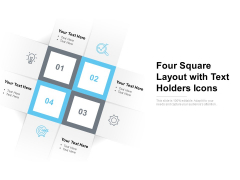 Four Square Layout With Text Holders Icons Ppt PowerPoint Presentation File Portrait