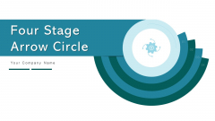 Four Stage Arrow Circle Implement Evaluate Ppt PowerPoint Presentation Complete Deck With Slides