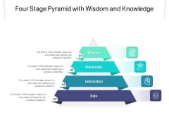 Four Stage Pyramid With Wisdom And Knowledge Ppt PowerPoint Presentation Ideas Graphic Images