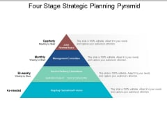 Four Stage Strategic Planning Pyramid Ppt PowerPoint Presentation Pictures Ideas