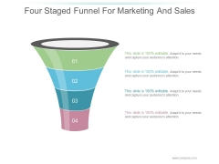 Four Staged Funnel For Marketing And Sales Ppt PowerPoint Presentation Professional
