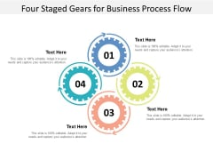 Four Staged Gears For Business Process Flow Ppt Powerpoint Presentation Infographics Ideas
