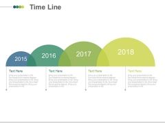 Four Staged Linear Timeline For Growth Analysis Powerpoint Slides