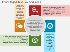 Four Staged Text Box And Icons Powerpoint Template