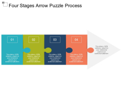 Four Stages Arrow Puzzle Process Ppt Powerpoint Presentation Ideas Pictures