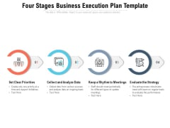 Four Stages Business Execution Plan Template Ppt PowerPoint Presentation Icon Show