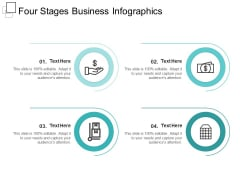 Four Stages Business Infographics Ppt PowerPoint Presentation Outline Infographic Template