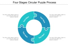 four stages circular puzzle process ppt powerpoint presentation infographics example