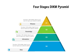 Four Stages DIKM Pyramid Ppt PowerPoint Presentation Inspiration Example Introduction PDF