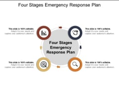 Four Stages Emergency Response Plan Ppt PowerPoint Presentation Styles Graphics Example