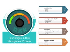 Four Stages In Risk Management Process Ppt PowerPoint Presentation Professional Grid PDF
