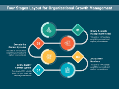 Four Stages Layout For Organizational Growth Management Ppt PowerPoint Presentation File Templates PDF