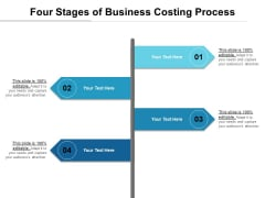 Four Stages Of Business Costing Process Ppt PowerPoint Presentation Styles Inspiration PDF