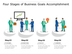 Four Stages Of Business Goals Accomplishment Ppt PowerPoint Presentation File Inspiration PDF