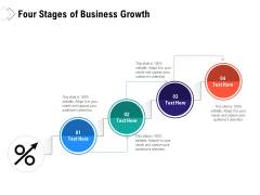 Four Stages Of Business Growth Ppt PowerPoint Presentation Icon Show PDF