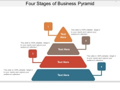 Four Stages Of Business Pyramid Ppt PowerPoint Presentation Professional Design Inspiration PDF