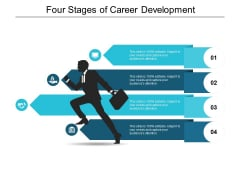 Four Stages Of Career Development Ppt PowerPoint Presentation Infographic Template