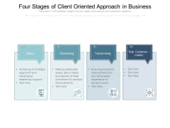Four Stages Of Client Oriented Approach In Business Ppt PowerPoint Presentation Styles Example PDF
