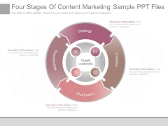 Four Stages Of Content Marketing Sample Ppt Files