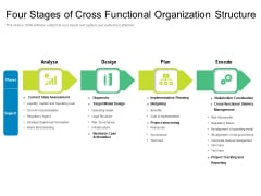 Four Stages Of Cross Functional Organization Structure Ppt PowerPoint Presentation Gallery Infographics PDF