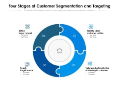 Four Stages Of Customer Segmentation And Targeting Ppt PowerPoint Presentation Summary Elements PDF