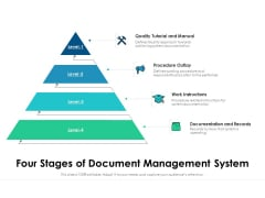 Four Stages Of Document Management System Ppt PowerPoint Presentation File Formats PDF