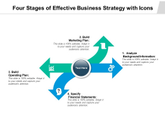 Four Stages Of Effective Business Strategy With Icons Ppt PowerPoint Presentation Infographic Template Gridlines PDF