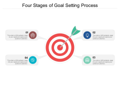 Four Stages Of Goal Setting Process Ppt PowerPoint Presentation Ideas Master Slide