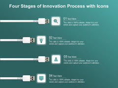Four Stages Of Innovation Process With Icons Ppt PowerPoint Presentation Gallery Sample PDF