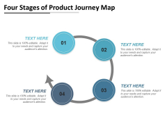 Four Stages Of Product Journey Map Ppt PowerPoint Presentation Diagram Graph Charts PDF