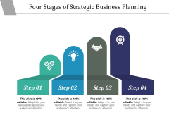 Four Stages Of Strategic Business Planning Ppt PowerPoint Presentation Model Guide