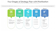 Four Stages Of Strategy Plan With Prioritization Ppt Styles Background Image PDF