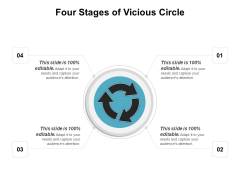 Four Stages Of Vicious Circle Ppt PowerPoint Presentation Slides Brochure PDF