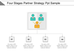 Four Stages Partner Strategy Ppt Sample Ppt PowerPoint Presentation Icon Samples PDF