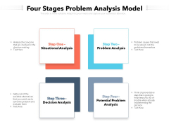 Four Stages Problem Analysis Model Ppt PowerPoint Presentation Infographic Template Display PDF