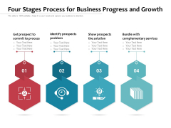 Four Stages Process For Business Progress And Growth Ppt PowerPoint Presentation Inspiration Background Designs PDF