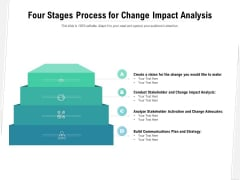 Four Stages Process For Change Impact Analysis Ppt PowerPoint Presentation Infographic Template Rules PDF