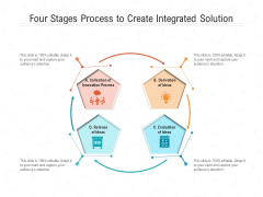 Four Stages Process To Create Integrated Solution Ppt PowerPoint Presentation File Slides PDF