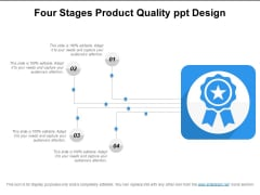 Four Stages Product Quality Ppt Design Ppt PowerPoint Presentation Styles Template PDF