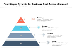 Four Stages Pyramid For Business Goal Accomplishment Ppt PowerPoint Presentation Gallery Templates PDF