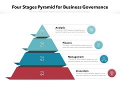 Four Stages Pyramid For Business Governance Ppt PowerPoint Presentation File Templates PDF