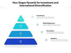 Four Stages Pyramid For Investment And International Diversification Ppt PowerPoint Presentation Gallery Images PDF