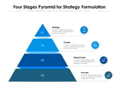 Four Stages Pyramid For Strategy Formulation Ppt PowerPoint Presentation Gallery Portrait PDF