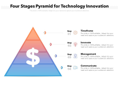Four Stages Pyramid For Technology Innovation Ppt PowerPoint Presentation File Portrait PDF