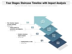 Four Stages Staircase Timeline With Impact Analysis Ppt PowerPoint Presentation Gallery Structure PDF