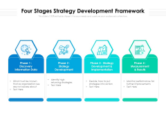 Four Stages Strategy Development Framework Ppt PowerPoint Presentation File Formats PDF
