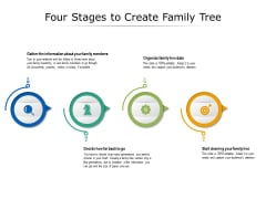 Four Stages To Create Family Tree Ppt PowerPoint Presentation Icon Background Images PDF