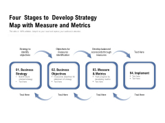 Four Stages To Develop Strategy Map With Measure And Metrics Ppt PowerPoint Presentation Infographic Template Guide